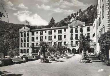 """CPSM FRANCE 66 """"Molitg les Bains, Le grand hôtel""""."""
