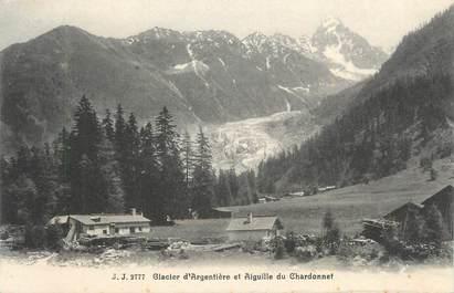 """CPA FRANCE 74 """"Argentière, Le glacier et l'aiguille du Chardonnet """"."""