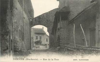 """CPA FRANCE 74 """"Nernier, Rue de la Tour""""."""