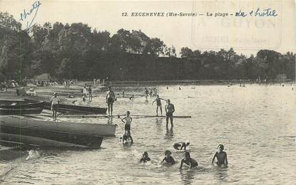 "CPA FRANCE 74 ""Excenevex, La plage""."