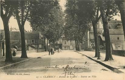 """CPA FRANCE 58 """"Clamecy, avenue de la gare"""""""