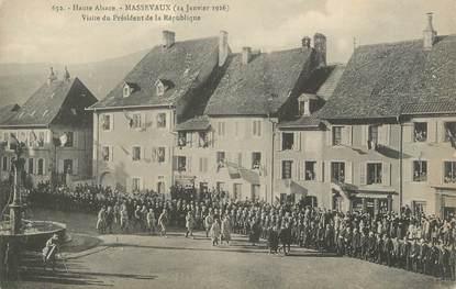 """CPA FRANCE 68 """"Massevaux, Visite du Président de la République""""."""