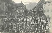 """68 Haut Rhin CPA FRANCE 68 """"Massevaux, Visite du Roi d'Italie, la revue""""."""
