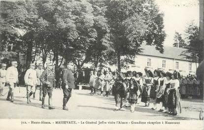 """CPA FRANCE 68 """"Massevaux, Le Général Joffre visite l'Alsace""""."""