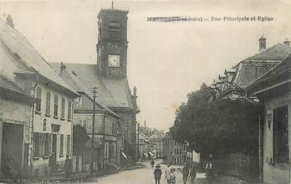 """CPA FRANCE 68 """"Massevaux, Rue principale et église""""."""