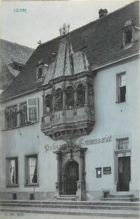 """CPA FRANCE 68 """"Colmar, Commissariat""""."""