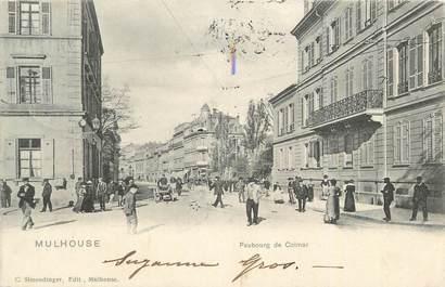 "CPA FRANCE 68 ""Mulhouse, Faubourg de Colmar""."