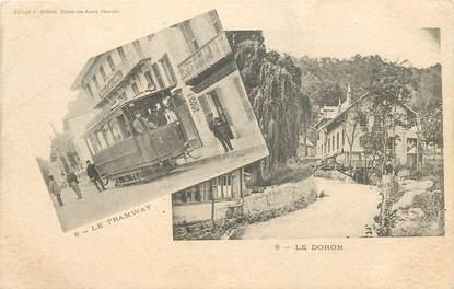 """CPA FRANCE 73 """"Brides , le tramway et le Doron"""""""