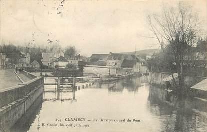 """CPA FRANCE 58 """"Clamecy, le Beuvron en aval du Pont"""""""