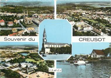 "CPSM FRANCE 71 ""Le Creusot, Vues""."