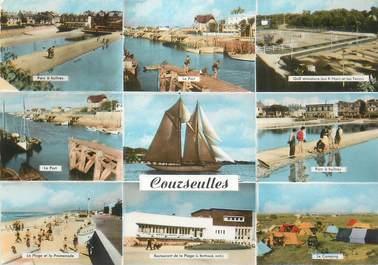 """CPSM FRANCE 14 """"Courseulles sur Mer, Vues""""."""