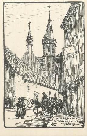 """CPA FRANCE 67 """"Strasbourg, St Pierre le Vieux """"."""
