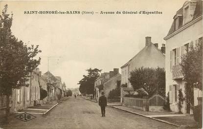 """CPA FRANCE 58 """"Saint Honoré les Bains, avenue du Général d'Espeuilles"""""""
