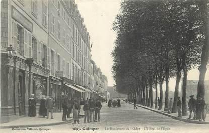 """CPA FRANCE 29 """"Quimper, Le Boulevard de l'Odet, l'Hôtel de l'Epée""""."""