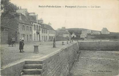 """CPA FRANCE 29 """"St Pol de Léon Pempoul, Les quais""""."""