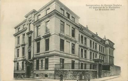 """CPA FRANCE 69 """"Lyon, Quartier de la Martinière, inauguration du groupe scolaire"""".."""