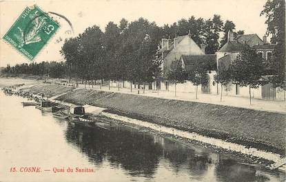 "CPA FRANCE 58 ""Cosne, Quai du Sanitas"""