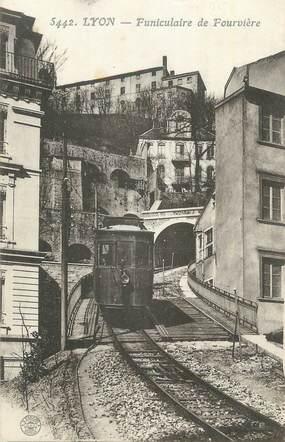 """CPA FRANCE 69 """"Lyon, Funiculaire de Fourvière""""."""