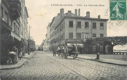 """CPA FRANCE 69 """"Lyon, St Clair, La grande rue"""". /QUARTIER DE LYON"""