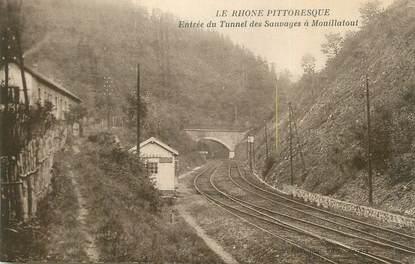 """CPA FRANCE 69 """"Mouillatout, Entrée du tunnel des Sauvages""""."""