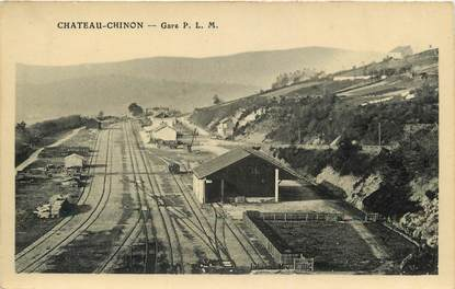 "CPA FRANCE 58 ""Chateau Chinon, la Gare"""