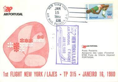 "LETTRE 1 ER VOL / USA ""New York / Bahamas, 10 octobre 1971"""