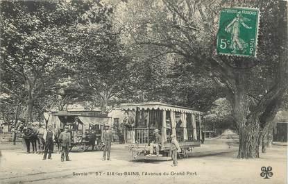 "CPA FRANCE 73 ""Aix les Bains, L'Avenue du grand port""."