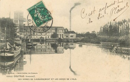 """CPA  FRANCE 33 """"Coutras, les Usines de Laubardemont"""""""