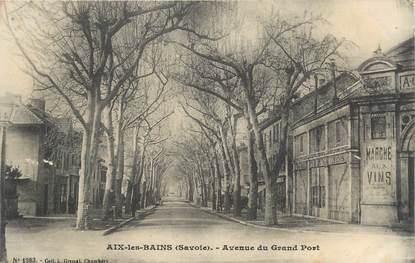 "CPA FRANCE 73 ""Aix les Bains, Avenue du Grand Port""."