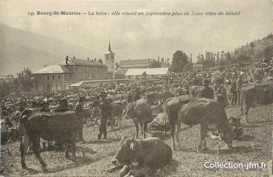 Cpa france 73 bourg st maurice la foire 73 savoie for Foire albertville