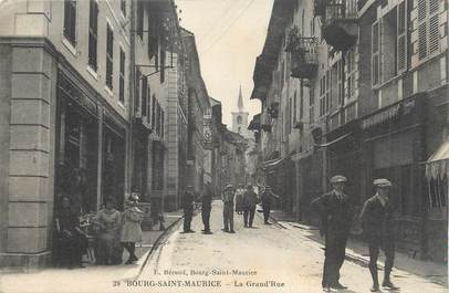 "CPA FRANCE 73 ""Bourg St Maurice,La grande rue""."