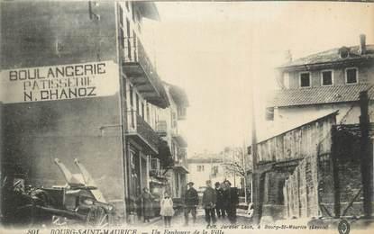 """CPA FRANCE 73 """"Bourg St Maurice, Un faubourg de la Ville""""."""