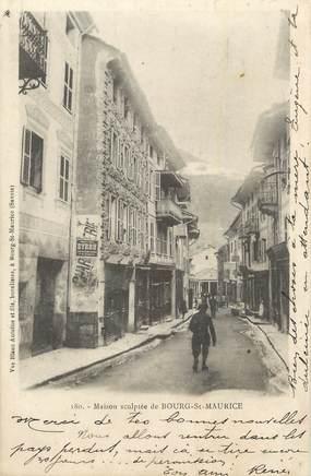 """CPA FRANCE 73 """"Bourg St Maurice, Maison sculptée """"."""