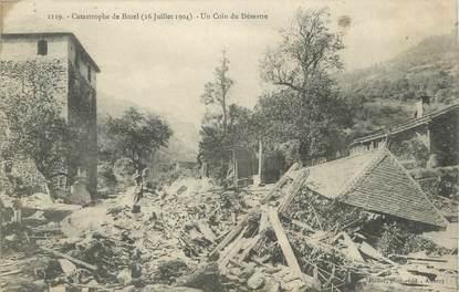 """CPA FRANCE 73 """"Bozel, La catastrophe, Un coin du désastre""""."""