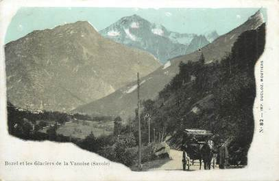 """CPA FRANCE 73 """"Bozel, Les glaciers de la Vanoise""""."""