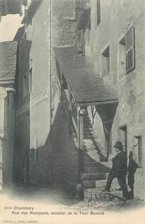 """CPA FRANCE 73 """"Chambéry, Rue des Remparts, escalier de la Tour Bossue""""."""