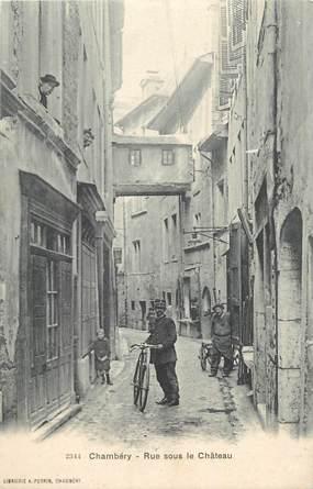 """CPA FRANCE 73 """"Chambéry, Rue sous le château""""."""