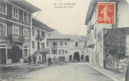 """CPA FRANCE 73 """"Le Chatelard, Intérieur de la ville""""."""