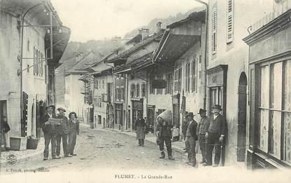 """CPA FRANCE 73 """" Flumet, La grande rue""""."""