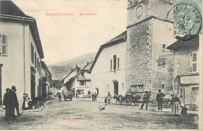 """CPA FRANCE 73 """"Novalaise, Rue centrale""""."""