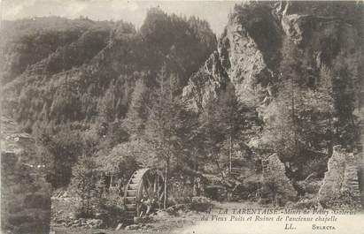 """CPA FRANCE 73 """" Peisey, Mines et galeries du vieux puits et ruines de l'ancienne chapelle"""". / MINES"""