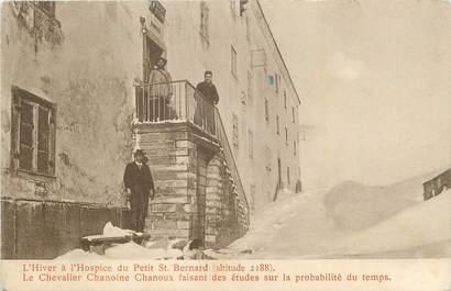 """CPA FRANCE 73 """" Le Petit St Bernard, L'hiver à l'Hospice, le Chevalier Chanoine Chanoux""""."""