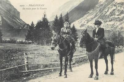 """CPA FRANCE 73 """" Pralognan, En route pour la Vanoise""""."""