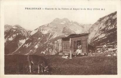 """CPA FRANCE 73 """" Pralognan, Chalets de la Glière et Aigui le de Mey""""."""