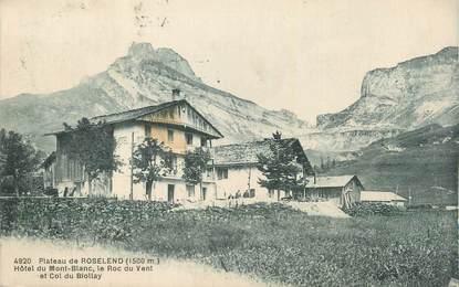 """CPA FRANCE 73 """" Plateau de Roselend, Hôtel du Mont Blanc""""."""