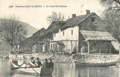 """CPA FRANCE 73 """"Environs d'Aix les Bains, Le canal de Savières""""."""