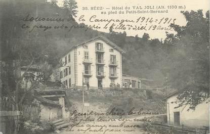 """CPA FRANCE 73 """"Séez, Hôtel du Val Joli au pied du Petit St Bernard""""."""