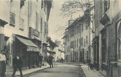 """CPA FRANCE 73 """"St Pierre d'Albigny, La grande rue""""."""