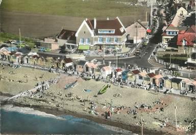 """CPSM FRANCE 76 """"Quiberville sur Mer, La plage et les hôtels""""."""