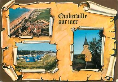 """CPSM FRANCE 76 """"Quiberville sur Mer, Vues""""."""